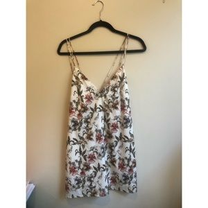 Flower Printed Flowy Slip Dress